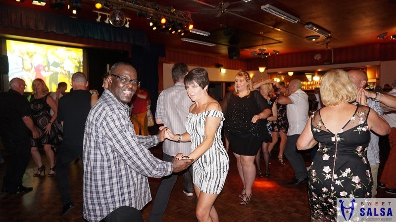 Busy salsa party night