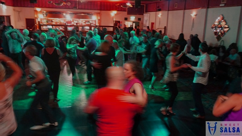 Busy salsa dancefloor at the Canberra Club November 2018