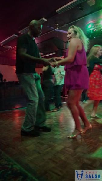 Concentrating on the salsa moves