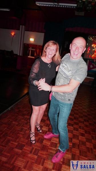 Enjoying the salsa dance