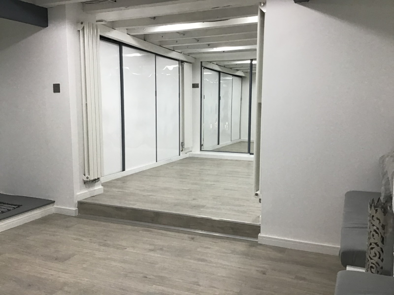 Home dance studio with full length mirrors