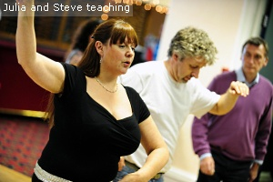 Julia teaching at sweet salsa longridge