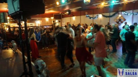 Dancing salsa at The Canberra Club
