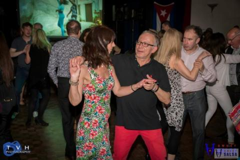 couple dancing to the salsa music at the Canberra Club