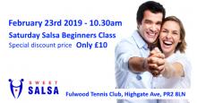 Complete beginner salsa class Saturday in Preston